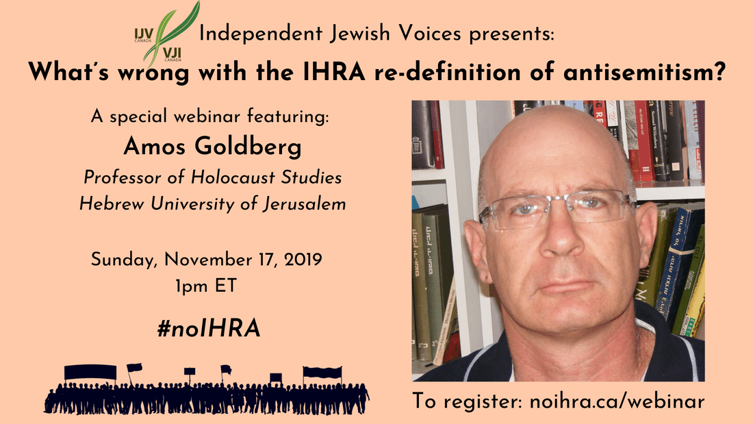 IJV Webinar: What's wrong with the IHRA re-definition of antisemitism?