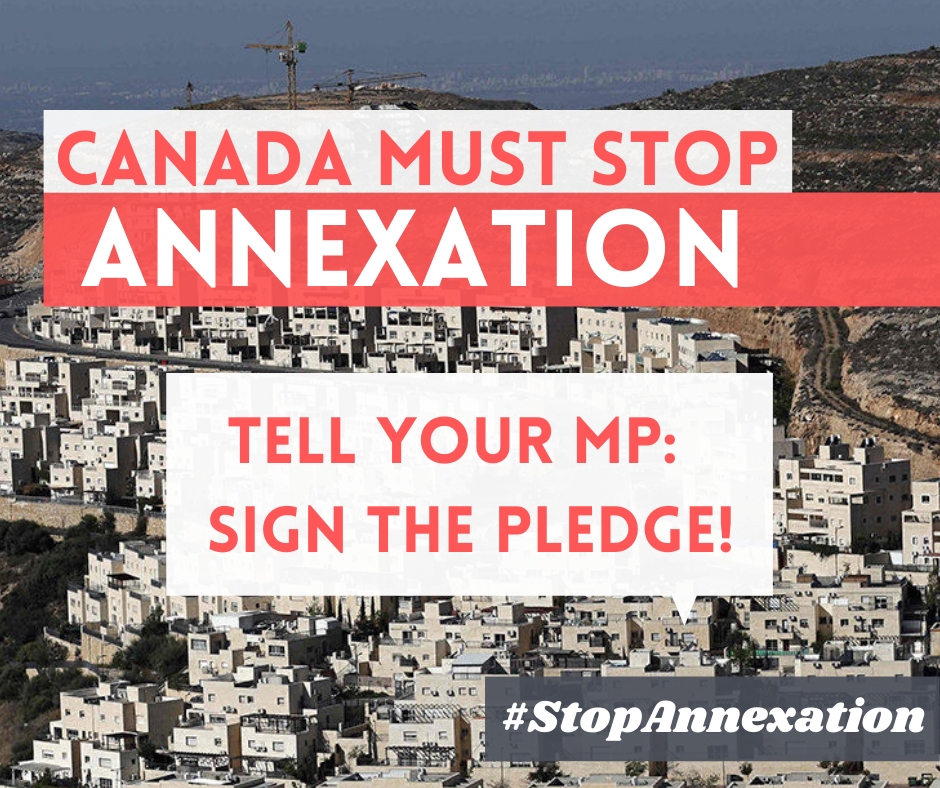 TELL YOUR MP: SIGN THE PLEDGE TO OPPOSE ISRAELI ANNEXATION