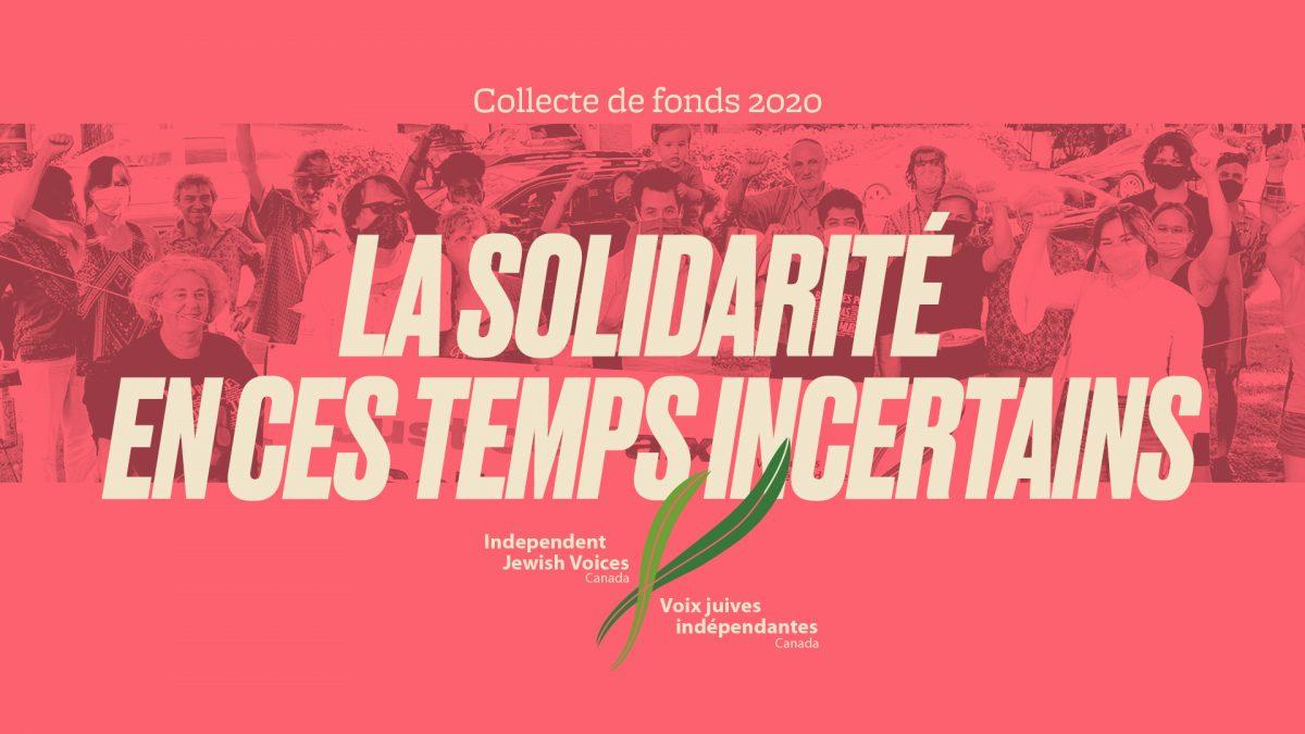 La solidarité en ces temps incertains: Collecte de fonds de VJI