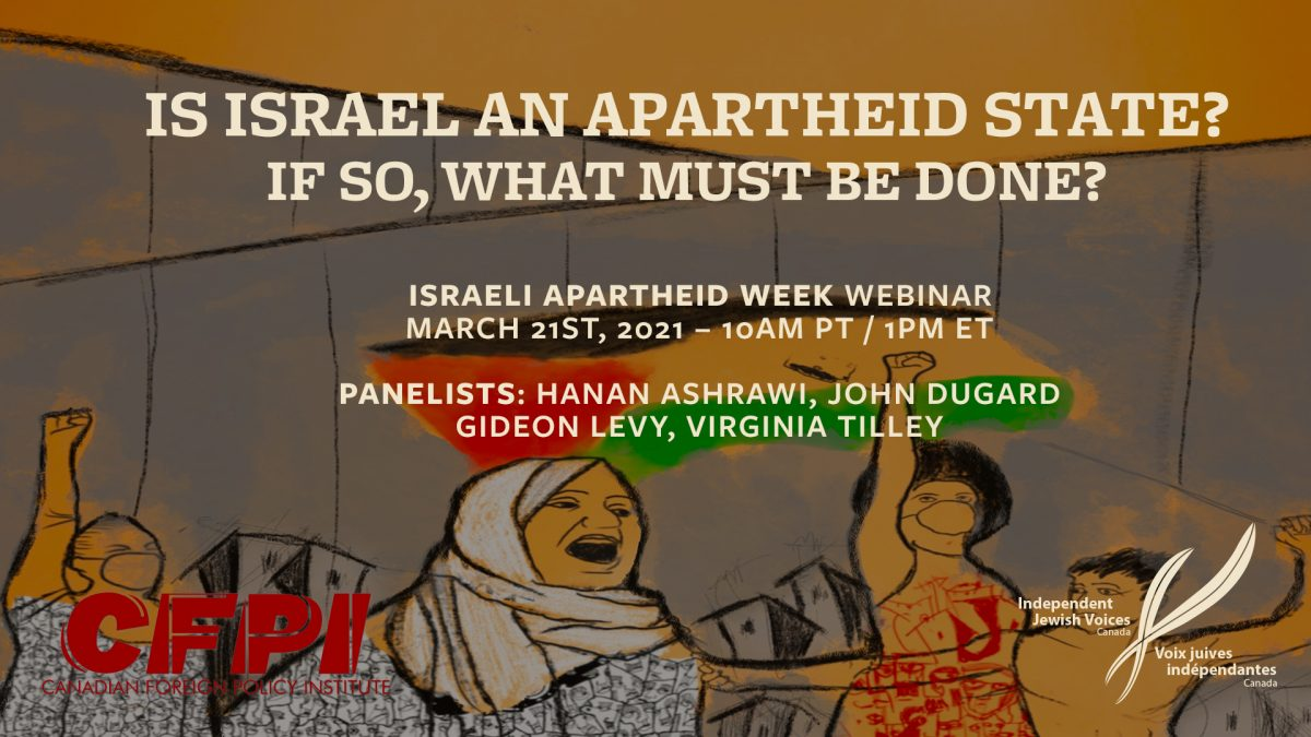 IAW Webinar: Is Israel An Apartheid State? If So, What Must Be Done?