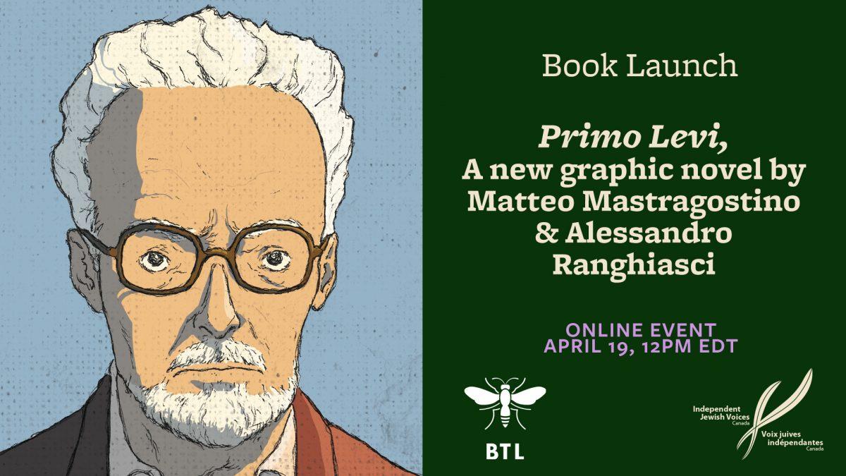 Primo Levi – Graphic Novel Launch